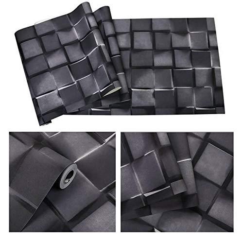 Nordisches Retro- Steinziegelsteinmuster-Tapetenausgangsdekorationsgeschäfts-Schlafzimmerwohnzimmer der Weinleseart 3D - Schwarzes