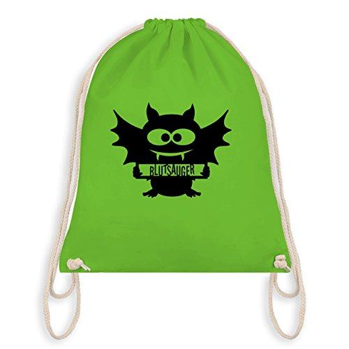 Halloween - Fledermaus - Turnbeutel I Gym Bag Hellgrün