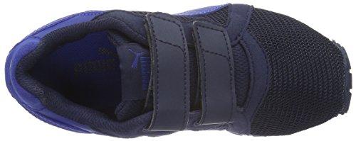 Puma Pacer V Ps, Baskets Basses Mixte Enfant Bleu - Blau (PEACOAT-Mazarine Blue 01)