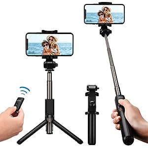 Bluetooth Selfie Stick mit Stativ, Mpow Bluetooth Einbeinstativ mit Stabilem Stativ Ständer, Fernbedienung und Ladekabel, 360° Rotation für iPhone 8/8 Plus/7/7 Plus/Galaxy S8/Huawei/HTC/Sony usw