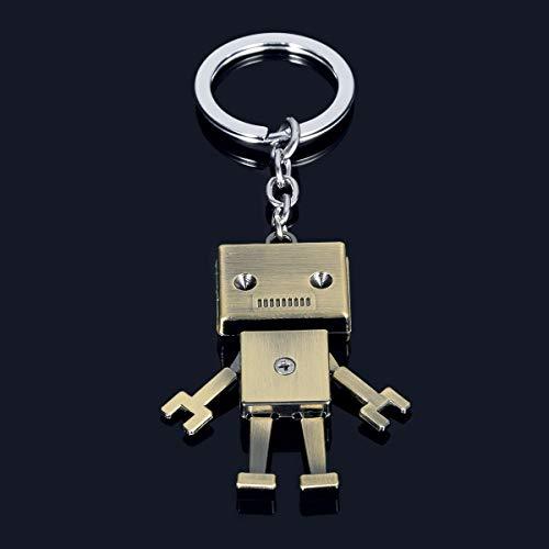 (1 x Retro Mechanischer Roboter Schlüsselanhänger Geldbörse Auto Dekoration)