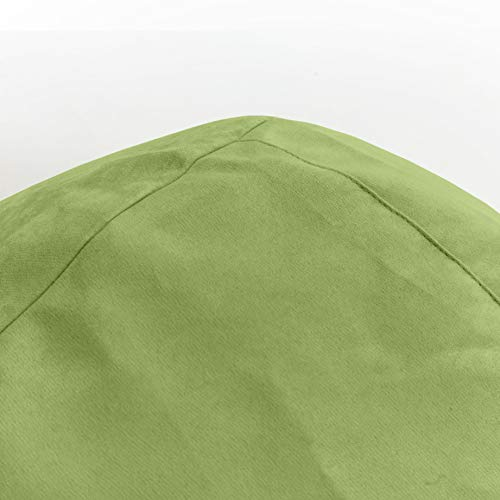 Lumaland Luxury XL Sitzsack stylischer Beanbag 120L Füllung verschiedene Farben Grün – Für alle Altersklassen - 7
