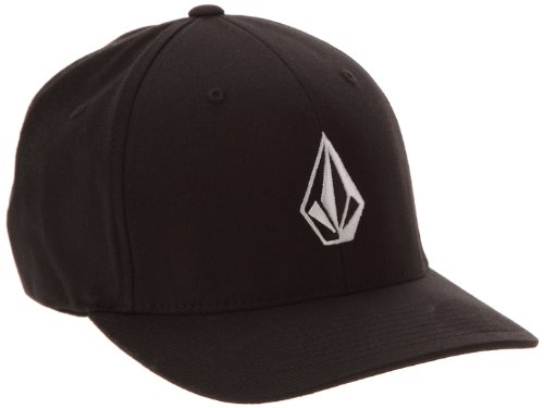 volcom-mens-full-stone-xfit-baseball-cap-black-medium-manufacturer-sizesmall-medium