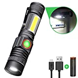 Karrong Strong Magnetic Led Torch USB Rechargeable Super Bright Flashlight 4 Modes Updated