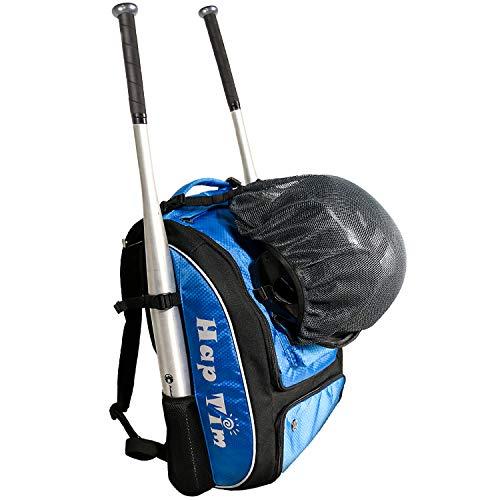 Hap Tim Baseball Tasche/Softball Tasche - Fledermaus Tasche Rucksack - Große Kapazität Baseball/Softball Rucksack Passt 2 Fledermäuse, Helm, Feldmaske, Handschuhe, Stollen mit Separat (EU1001-SB) (Softball-rucksäcke)