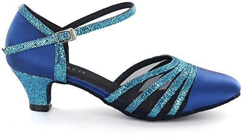DSOL CLASSIC , Damen Tanzschuhe schwarz schwarz 38, blau - blau - Größe: 41 - 2