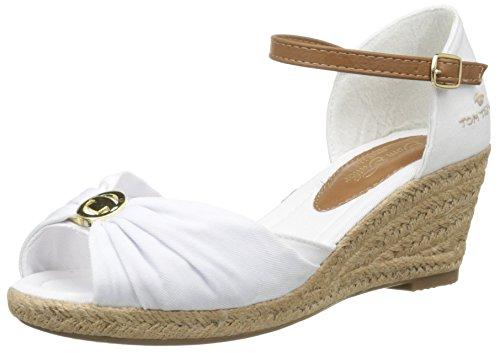 Tom Tailor  9690907,  Damen Sandalen , Weiß - Weiß - weiß - Größe: 40