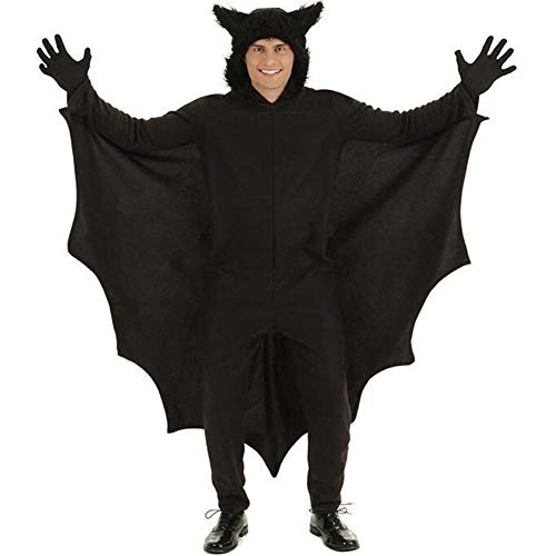 MYWSJ Uomini Halloween Pipistrelli In Costume Con Guanti E Connect Wing Cosplay Per Adulti,M