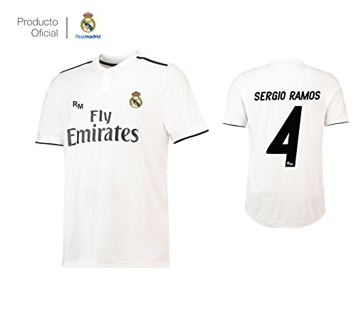 Real Madrid C.F. Camiseta 1ºEQUIPO Sergio Ramos Real Madrid 2018-2019  Adulto-Incluye Cinturón b1d9f8e4c