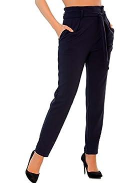 Miss Wear Line Pantalón - recta - para mujer