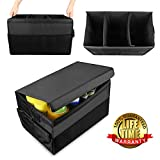 Car Boot Organiser with Lid, GOGOLO Heavy Duty Auto Trunk Storage Organizer Bag For Car, SUV, Vans - Non Slip Bottom Bases to Prevent Sliding