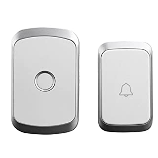 TAOtTAO Wireless Remote Control Chime Door Bell Gate Alarm Doorbell With 36-Melody (Silber)