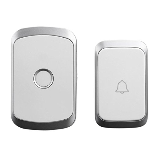 TAOtTAO Wireless Remote Control Chime Door Bell Gate Alarm Doorbell With 36-Melody (Silber) Gate Remote