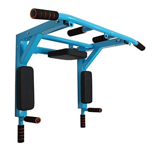 Klimmzugstangen Kinnstange Wand Fitness-Reck Wandmontierbare Fitnessstange Abnehmbarer Multifunktionsbarren Fitness-Boom Für Fitnessmuskeln (Color : Blue, Size : 92 * 72 * 48cm)