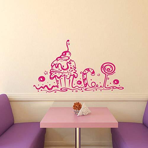 (Dalxsh Wandtattoos Bäckerei Cafe Küche Dekor Süße Kuchen Cupcake Home Interior DesignKunstwand 30X44 Cm)