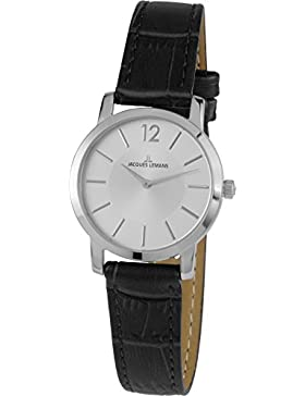 Jacques Lemans Damen-Armbanduhr Analog Quarz Leder 40-2B