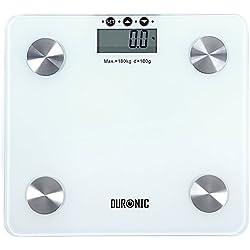 Duronic BS301 - Bilancia diagnostica digitale con pedana in vetro. Portata 180 kg.