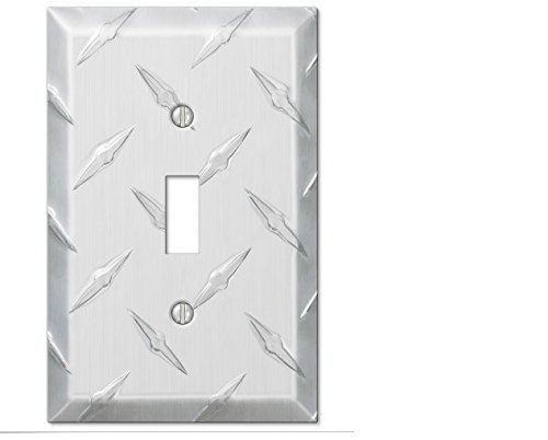 Wand Switch Plate Abdeckung Diamant Aluminium Garage Auslass Toggle Decora Rocker