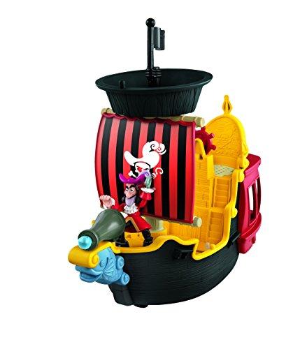Mattel Fisher-Price Y2265 – Jake und die Nimmerland Piraten Käpt'n Hooks Jolly Roger Piratenschiff - 2