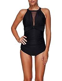 4b59e10b4dd9 AKAAYUKO Trikini Donna Mare Tankini Costume da Bagno Donna Swimwear One  Piece