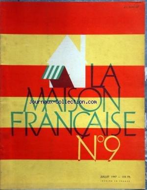 MAISON FRANCAISE (LA) [No 9] du 01/07/19...