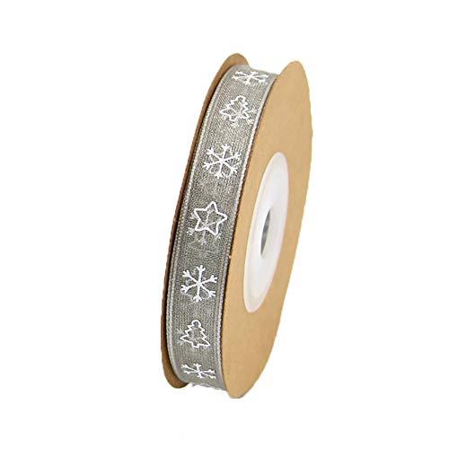 Vi.yo Christmas Ribbons Fiocco di Neve Albero di Natale Modello Artigianato Fai da Te Decorazioni Nastri per Confezioni Regalo