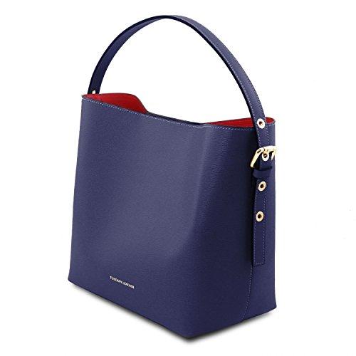 8543e28456 Tuscany Leather Arianna - Borsa secchiello da donna in pelle Saffiano con  pochette interna - TL141613 ...
