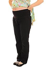Negro Lino holgada Maternidad Embarazo ropa más de Bump Pantalones