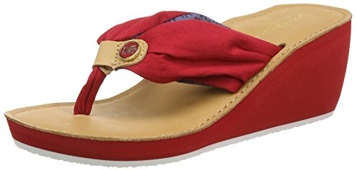 Tommy Hilfiger M1285yriam 9d, Tongs Femme Rouge (Tango Red 611)