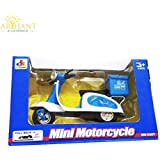 Srmaji Scooter Toys For Kids Blue Colour Courier Delivery Die-Cast Pull Back Scooter Toys For Kids Courier Distribution Mini Motor Scooty For Boys & Girls High Quality Die-Cast Scooter Toys For Children MotorCycle With Pull Back Action Scooter Scaled