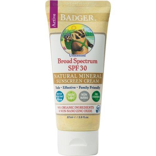 Badger Sunstech creen Creams 30parfümfrei–Protección Solar Crema, 1er Pack (1x 87g)