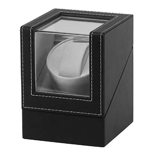 TOOGOO Erweiterte Motor Vibrations Bildschirm Uhren Beweger Stand Display Automatische Mechanische Uhr Wickel Box Schmuck Uhren Box (Eu Stecker)