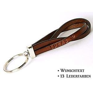 Leder Schlüsselanhänger mit Wunschtext Art. 11