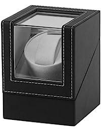 Tiamu Advanced Motor Vibrating Screen Watch Winder Stand Display Automatic Mechanical Watch Winding Box Jewelry Watch Box (UK Plug)
