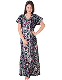 Masha Women's Cotton Printed Maxi Nightgown
