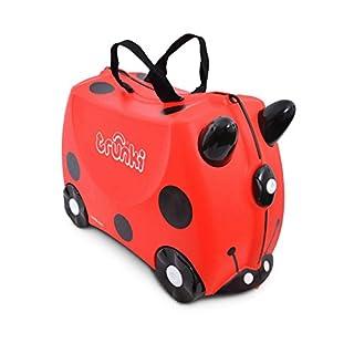 Trunki Valise Enfant à Roulette à Chevaucher et Bagage Cabine - Insectes: Harley la Coccinelle (Rouge) (B002ECE062) | Amazon Products