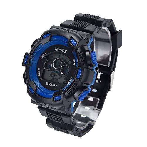 Uhren Kinder Sportuhr Jungen Wasserdichte Digital LED Sportuhr Kinder Alarm Date Watch Geschenk Armbanduhr Mode Uhrenarmband Watch mit Kunststoffband,ABoar