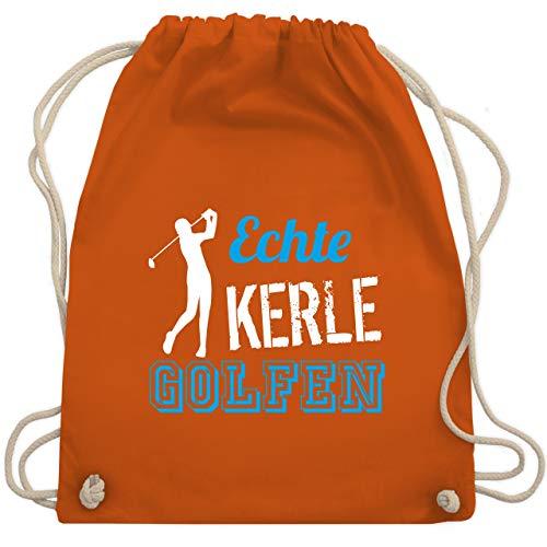 Golf - Echte Kerle golfen - Unisize - Orange - WM110 - Turnbeutel & Gym Bag (Blau Und Orange Golf-bag)