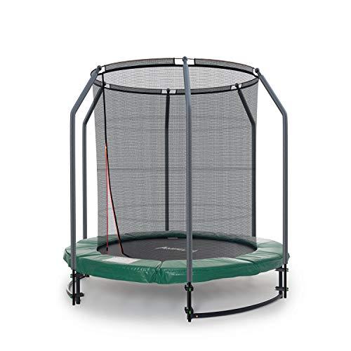 Ampel 24 Deluxe Ground Trampolin 183 cm komplett mit innenliegendem Netz, Sicherheitsnetz mit Stabilitätsring & 6 Stangen, für Kinder bis 35 kg