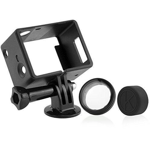 El mas ligero y compacto montaje para GoPro para una optima calidad de sonido!   El diseño abierto de este alojamiento ofrece un metodo ligero y compacto de proteccion para su GoPro Hero 3, 3+. El diseño abierto de la trama permite la captura de audi...