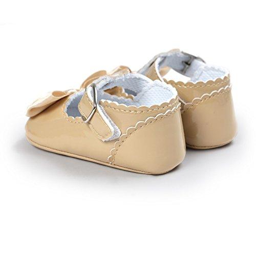 MiyaSudy Kleinkind Säuglingsbaby Mädchen weiche Sole Bowknot Princess Mary Jane Schuhe Khaki