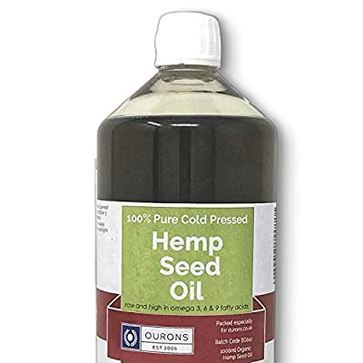 Hemp Seed Oil Organic Cold Pressed Food Grade 1 Litre Best Carp Fishing Bait from Ourons