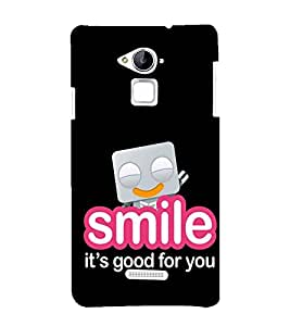FUSON Smile Good For You 3D Hard Polycarbonate Designer Back Case Cover for Coolpad Note 3