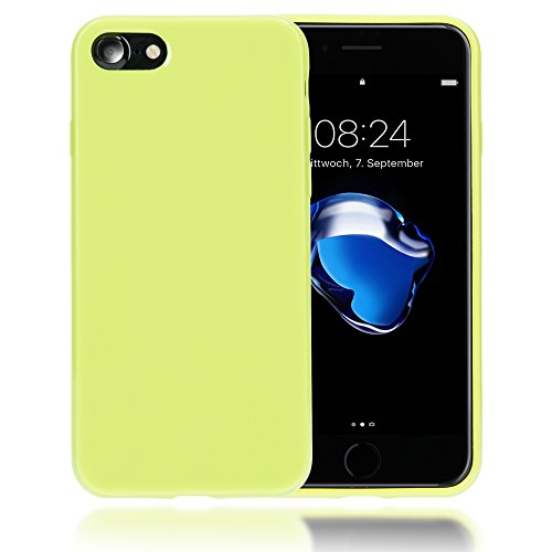 delightable24 Protezione Cover Case in Silicone TPU Jelly per Smartphone APPLE IPHONE 7 - Neon Verde Chiaro