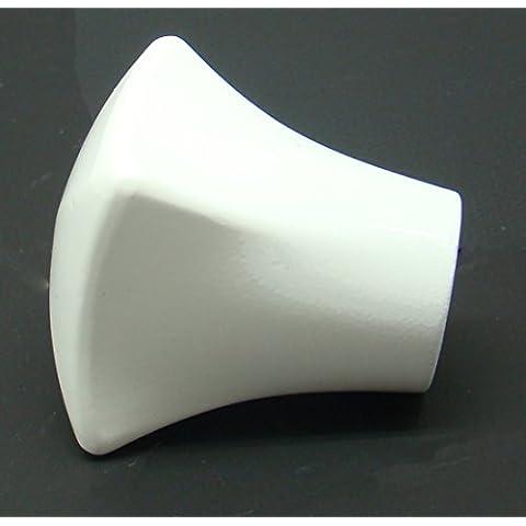 Terminale Coppa quadrata 20mm Bianco Lucido