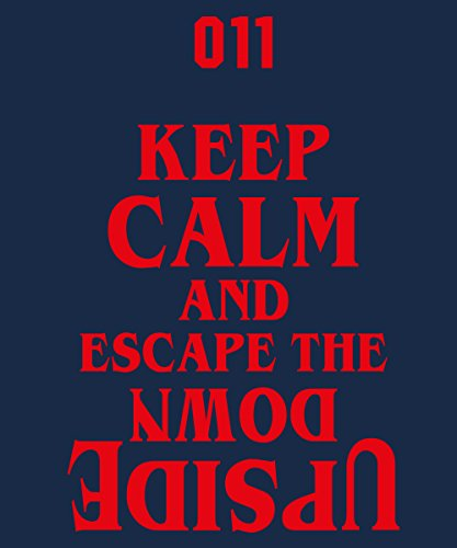 -- Escape The Upside Down -- Boys T-Shirt Navy