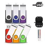 kacai Lot Cle USB 16 GO 2.0 Multi Pièces de Flash Disques Rotatives avec Un Sac pour...