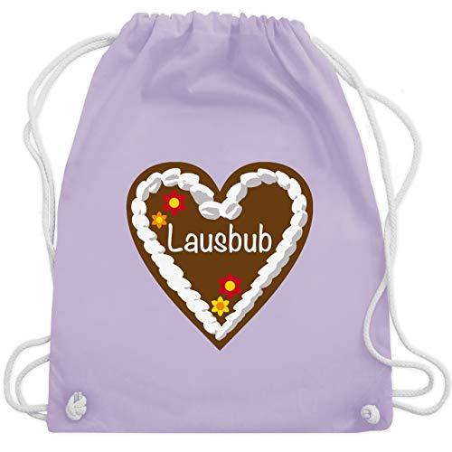 Oktoberfest Kind - Lebkuchenherz Lausbub - Unisize - Pastell Lila - WM110 - Turnbeutel & Gym Bag -