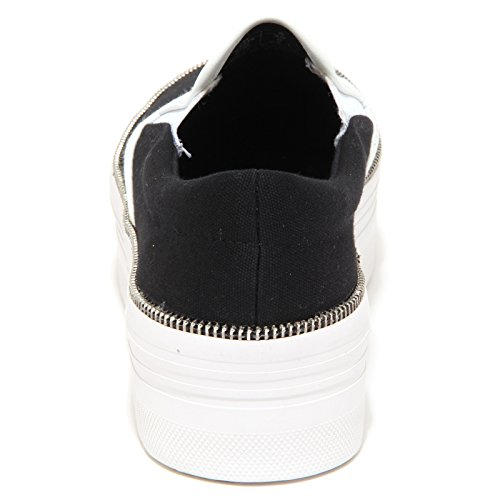 6839P sneaker JEFFREY CAMPBELL JC WTF ZIP nero scarpa donna shoe woman Nero