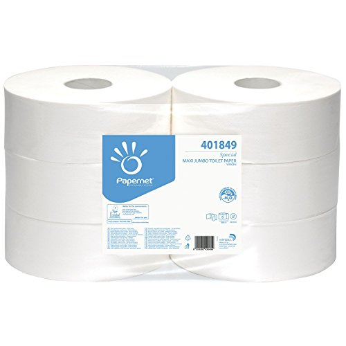 PAPERNET Special Jumbo Toilettenpapier perforiert 2-lagig weiß Inhalt 6 Rollen, 6 Stück,401849